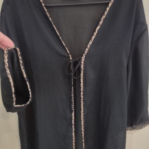 NATORI shear leopard lined, tie cover up